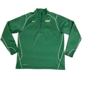 Nike UAB Blazers Half Zip Jacket Green Long Sleeve